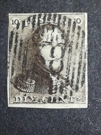 COB N ° 1 Oblitération D38 Nandrin - 1849 Epaulettes
