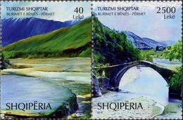 Albania Stamps 2018. Tourism: Thermal Springs; Brigde; Vjosa River. Set MNH - Albania