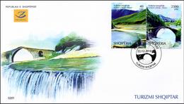 Albania Stamps 2018. Tourism: Thermal Springs; Brigde; Vjosa River. FDC MNH - Albania