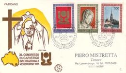 1973 - VATICANO - CONGRESSO EUCARISTICO - BUSTA FDC FILAGRANO. - FDC