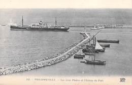 Afrique -Algérie (Skikda)  PHILIPPEVILLE Les Trois Phares Et L'entrée Du Port (lighthouse Lighthouses) (ND Phot  N°151) - Skikda (Philippeville)