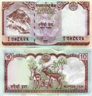NEPAL 10 RUPEES 2010 FDS UNC - Nepal