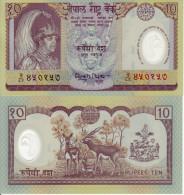 NEPAL BANCONOTA 10 RUPEES 1992 POLYMER FDS UNC - Népal