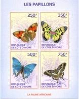Ivory Coast 2014 Butterflies Of Africa 4 Stamp Sheet 9A-241  $8.25 - Bermuda