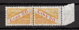 San Marino 1956 Bf. PP38 Servizi Pacchi Postali Nuovo MNH Filigrana Stelle - Pacchi Postali