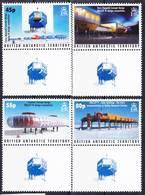 2018-0151 BAT Antarctic Bases Complete Set With Gutter Pairs Mi 404-407 MNH ** - Ungebraucht