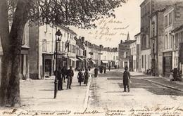 Aigre  16  La Grande Rue Tres Tres Animée-Epicerie-Mercerie Et Hotel-Café-Patisserie - Francia