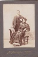COUPLE MARRIAGE. A,ALEXANDER. ROSARIO. SIZE 12x18cm CIRCA 1880s VINTAGE - BLEUP. - Photographs