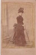 WOMAN IN ANTIQUE DRESS, SOUMASTRE, MERCEDES. R.O. SIZE 11x16cm CIRCA 1880s VINTAGE - BLEUP. - Photographs