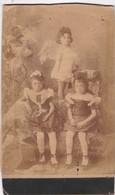 LITTLE GIRLS PETIT FILLES, ANGEL COSTUME. SIZE 12x19cm CIRCA 1880s VINTAGE - BLEUP. - Photographs