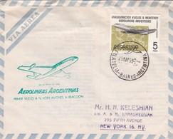 AIRMAIL, AEROLINEAS ARGENTINAS PRIMER VUELO A NUEVA YORK AVIONES A REACCION 1959. FULL CONTENT INSIDE - BLEUP. - Luftpost