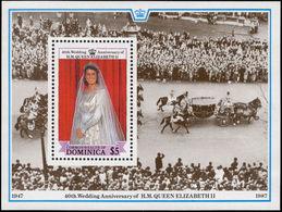 Dominica 1988 Royal Ruby Wedding Souvenir Sheet Unmounted Mint. - Dominica (1978-...)