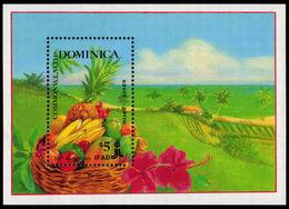 Dominica 1988 Agricultural Development Souvenir Sheet Unmounted Mint. - Dominica (1978-...)