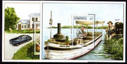 Dominica 1988 Entertainers Souvenir Sheet Set Unmounted Mint. - Dominica (1978-...)