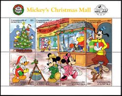 Dominica 1988 Mickeys Christmas Mail Sheetlet Unmounted Mint. - Dominica (1978-...)