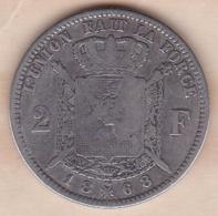 Belgique. 2 Francs 1868 Leopold II, Légende Francaise , En Argent - 1865-1909: Leopold II