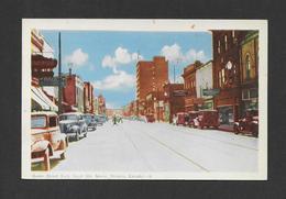 SAULT STE MARIE - ONTARIO - QUEEN STREET EAST - POSTMARKED 1947 NICE STAMP AND NICE CARS - Ontario