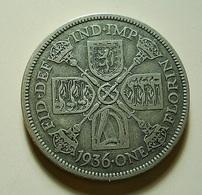 Great Britain 1 Florin 1936 Silver - J. 1 Florin / 2 Schillings