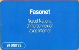 Burkina Faso - BKF-27 ONATEL, Fasonet, Logos, 20 U, ~18.000 Ex, Used As Scan - Burkina Faso