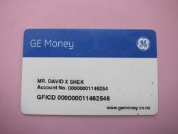 New Zealand GE Money Payment Card - Phonecards