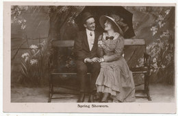 Spring Showers, Romantic Postcard - Other