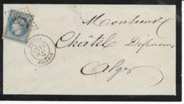 Env (liseré Noir) Cad DELLYS  ALGERIE 14 Juin 1870 Pour ALGER  TB - Postmark Collection (Covers)
