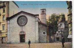 AK 0112  Lugano - Chiesa E Scala Degli Angioli Um 1921 - TI Tessin