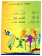 Folder 2001 Games Stamps Table Tennis Weight Lifting Taekwondo Swimming Sprint Javelin Sport - Celebrations