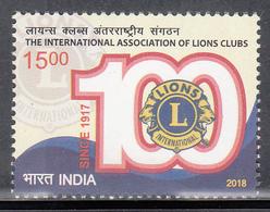 INDIA 2018  International Association Of LIONS Clubs 1v Complete, MNH(**) - Inde