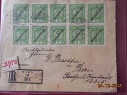 Lettre D Autriche De 1919 En Recommande Pour La Suisse - 1918-1945 1ère République