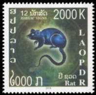 Laos Lot 03- New Issue 2018 Set 12 Stamps+ 1 SS-PERF + 1 SS-NPERF + FDC Zodiac Signs - Laos