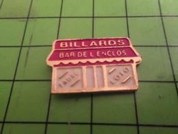 116A Pin's Pins /  Rare & De Belle Qualité : THEME SPORTS / BILLARDS BAR DE L'ENCLOS TABAC LOTO - Billard
