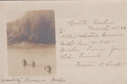Real Photo - Castle Rock WA State Washington - Cowlitz River - Simple Back - Animated - Written In 1906 - 2 Scans - Etats-Unis