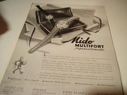 PUBLICITE AFFICHE MONTRE MIDO MULTICONFORT 1954 - Autres