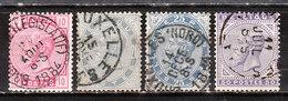 38/41  Emission De 1883 - Série Complète - Oblit. - LOOK!!!! - 1883 Leopold II