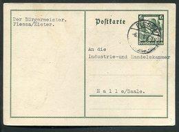 Deutsches Reich / 1935 / Sonderpostkarte Mi.P 256 Steg-Stempel PLESSA, Deutsche Nothilfe (3/035) - Allemagne