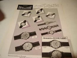ANCIENNE PUBLICITE MONTRES DERMONT 1954 - Bijoux & Horlogerie