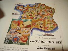 ANCIENNE PUBLICITE FROMAGE DE BEL 1954 - Affiches
