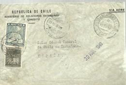 CARTA 1940  CENSURA ESPAÑA - Chile
