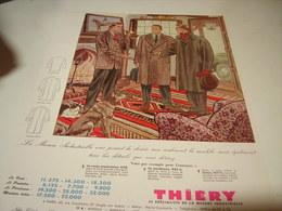 ANCIENNE PUBLICITE VETEMENT ARMAND THIERY  1954 - Publicités