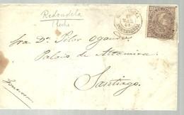 CARTA 1869  REDONDELA  A SANTIAGO - Lettres & Documents