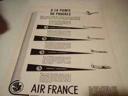 ANCIENNE PUBLICITE POINTE DU PROGRES  AIR FRANCE 1955 - Publicités