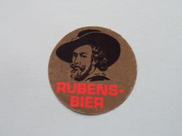 RUBENS BIER ( Zie / Voir Photo ) Blanco Achterzijde / Sticker - Autocollant - Zelfklever ( Format 5 Cm. ) ! - Alcohols