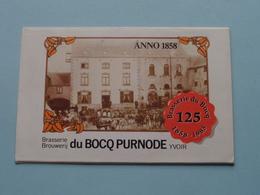 Brasserie Du BOCQ PURNODE Yvoir ( Zie / Voir Photo ) KALENDER 1984 ( Format Plier 11,5 X 7,5 Cm. ) Calendrier ! - Alcohols