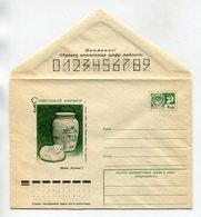 "COVER USSR 1976 SOVIET PORCELAIN ""ARCTIC FOX"" & ""DEERS"" #76-102 - 1970-79"