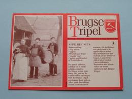 BRUGSE TRIPEL - Brouwerij 't Hamerken Brugge ( Zie / Voir Photo ) ( Format PK / CP ) ! - Alcools