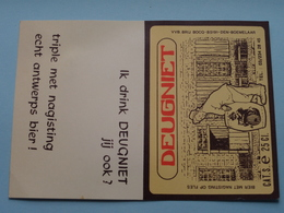 DEUGNIET 25 Cl. - Brouwerij BOCQ Den Boemelaar ( Zie / Voir Photo ) ( Format 16,5 X 11,5 Cm. ) Blanco Achterkant ! - Alcools