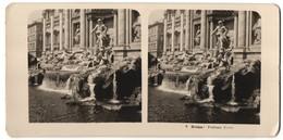 Stereo-Foto N.P.G., Berlin-Steglitz, Ansicht Roma, Fontana Trevi - Stereoscopio