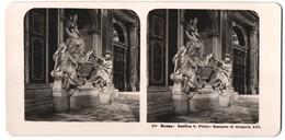 Stereo-Foto N.P.G., Berlin-Steglitz, Ansicht Roma, Basilica S. Pietro, Mausoleo Di Gregorio XIII. - Stereoscopio