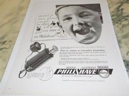 ANCIENNE PUBLICITE QUAND JE SERAIS GRAND RASOIR PHILIPS 1949 - Pubblicitari